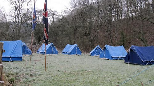 Tents at Easter Camp 2012